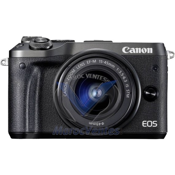 Appareil photo hybride EOS M6 + 15-45mm CMOS 25.8 Mp 1 040 000 pixels WLAN 1724C012AA