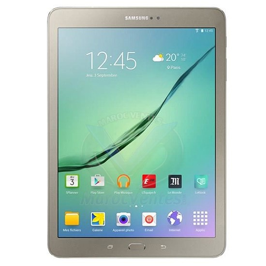SAMSUNG TAB S2 Gold Noir & Blanc 8 Pouces 3G 32GO Android 2Mp 8Mp SM-T715NZDEMWD